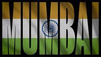 Indien flagga med Mumbai Mask