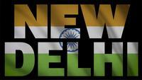 Bandera de la India con máscara de Nueva Delhi