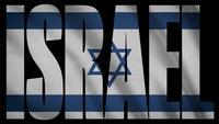 Drapeau d'Israël avec le masque d'Israël
