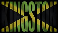 Bandera de jamaica con mascara de kingston
