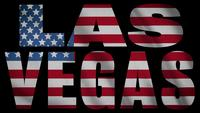 USA Flagga med Las Vegas Mask