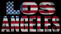 USA Flagga med Los Angeles Mask