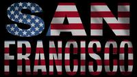 USA Flagga med San Francisco Mask