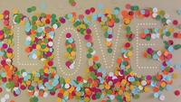 Confetti Love Word