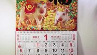 Calendar Chinese New Year Earth Pig