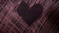 Heart Shape Daring Time Lapse In The Chalkboard