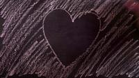 Heart Drawing Time Lapse In The Chalkboard