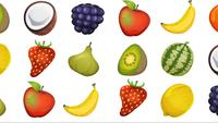 Motion Graphic con frutas en bucle de fondo