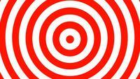 Boucle de fond de cercles hypnotiques