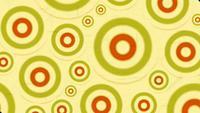 vintage beelden van psychedelische cirkels