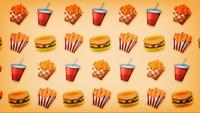 Loopable 2d Motion Graphics Fast-Food-Hintergrund