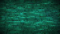 Binary Code Data Security Distort Background