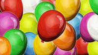 Dynamic Party Balloons Background For Game UI