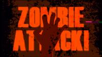 B Movie Zombie Attack Hintergrund mit Twitch-Effekt