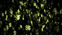 Dollar Valuta Light Particle Background Loop