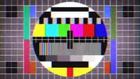 Old Tv Test Signal Sight Background Loop