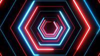 Abstrakter Digital-Hintergrund-Neonpolygon 4k