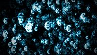 4k Euro Currency Light Particle Background Loop