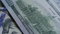 Rotating stock footage shot of $100 bills - MONEY 0132