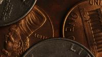 Rotating stock footage shot of American monetary coins - MONEY 0280