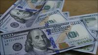 Giro de material de archivo de $ 100 billetes - DINERO 0144