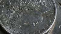 Rotation court métrage d'arrière-plan antiques pièces américaines - ARGENT 0108