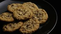 Cinematic, Rotating Shot of Cookies on a Plate - COOKIES 171