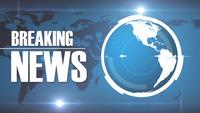 Breaking News Intro TV Broadcast On Earth Background