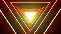 Abstract Background Loop With Neon Shiny Triangle