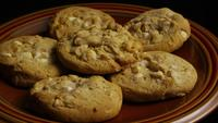 Cinematic, Rotating Shot of Cookies on a Plate - COOKIES 331