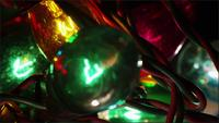 Cinematic, Rotating Shot of ornamental Christmas lights - KERSTMIS 056