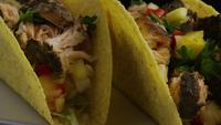 Rotating shot of delicious, fish tacos - FOOD 008