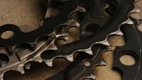 Filmischer, drehender Gang der Zahnräder - Gears 014