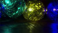 Cinematic, Rotating Shot of ornamental Christmas lights - CHRISTMAS 039