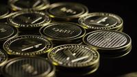 Rotating shot of Bitcoins (digital cryptocurrency) - BITCOIN LITECOIN 293