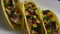 Rotating shot of delicious, fish tacos - FOOD 012