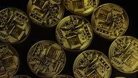 Tiro rotativo de Bitcoins (cryptocurrency digital) - BITCOIN 0049