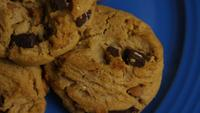 Cinematic, Rotating Shot of Cookies on a Plate - COOKIES 360