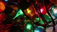 Cinematic, Rotating Shot of ornamental Christmas lights - CHRISTMAS 054