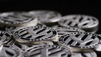 Rotating shot of Bitcoins (digital cryptocurrency) - BITCOIN LITECOIN 436