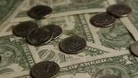 Rotierender Schuss des amerikanischen Geldes (Währung) - GELD 543