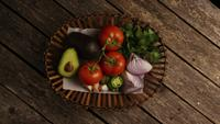 Rotating shot of beautiful, fresh vegetables on a wooden surface - BBQ 114
