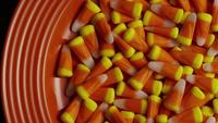 Rotating shot of Halloween candy corn - CANDY CORN 019