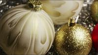 Cinematic, Rotating Shot of Christmas ornaments - CHRISTMAS 030