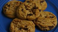 Cinematic, Rotating Shot of Cookies on a Plate - COOKIES 363