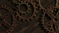 Rotating stock footage shot of antique and weathered watch faces - WATCH FACES 044