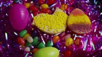 Cinematic, Rotating Shot of Easter Cookies on a Plate - COOKIES EASTER 019