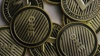 Rotating shot of Litecoin Bitcoins (digital cryptocurrency) - BITCOIN LITECOIN 0069