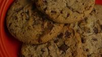 Cinematic, Rotating Shot of Cookies on a Plate - COOKIES 351