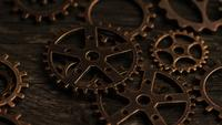 Rotating stock footage shot of antique and weathered watch faces - WATCH FACES 037